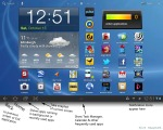 galaxy tab homescreen