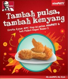 Isi Pulsa Telkomsel Gratis Ayam KFC